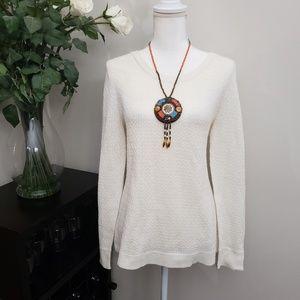 NWT Talbots Creme Knit Lightweight Sweater